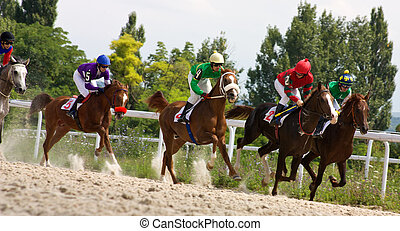 Horse racing. - The race for the prize of the Letni in...