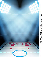Background for posters night ice hockey stadium in the...