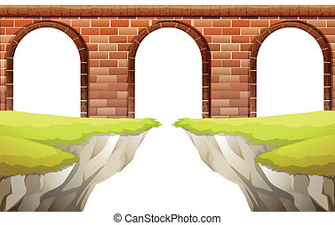 Bridge - Illustration of a close up bridge arch