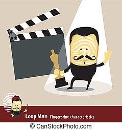 Actor - Vector of Fingerprint Man Characteristics Series....