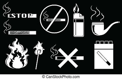 Non-smoking - Illustration of non-smoking signs