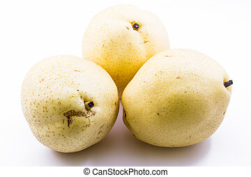 Juicy Isolated Asian Pear