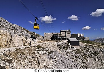 funicular station in alps