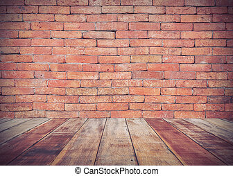 brick wall background, process vintage tone