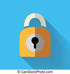 colorful flat design padlock icon