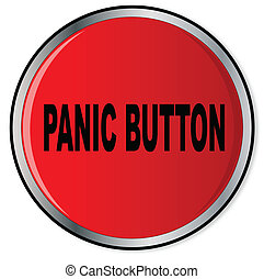Panic Button - A large red help panic button over a white...
