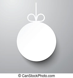 Paper christmas ball. - Single white paper christmas ball....