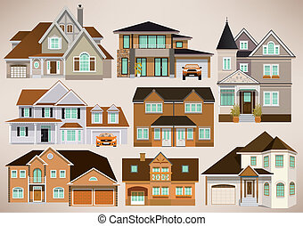 City houses - Vector illustration of city houses