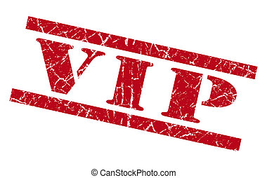 vip red square grunge textured isolated stamp