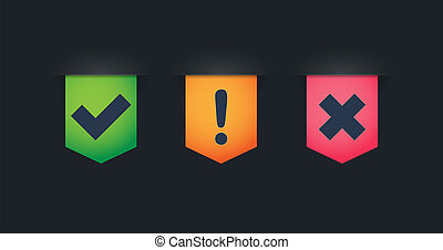 Ribbon icon set with survey related icons - Illustration of...