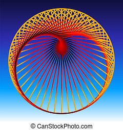 Cardioid Red - Cardioid, a mathematical plane curve,...