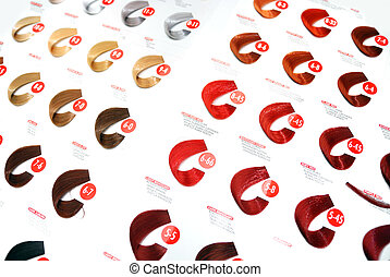 hair colors sample - hair color sample