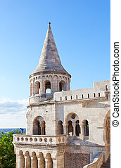 Fisherman Bastion on the Buda Castle hill in Budapest, Hungary