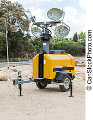autonomous industrial lighting, for outdoor use