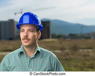Retrato, macho, engenheiro