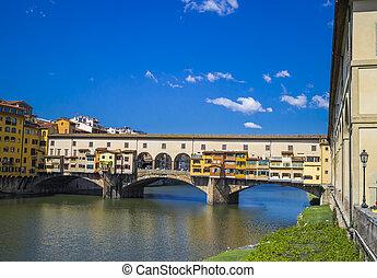 Ponte Vecchio - Cityscape of bridge Ponte Vecchio in...