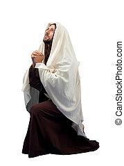 Jesus Christ full length in knee - Jesus Christ full...