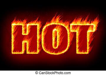 caldo, fiamme
