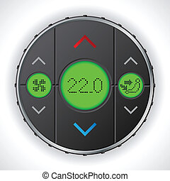 Air condition gauge with triple lcd - Air condition gauge...