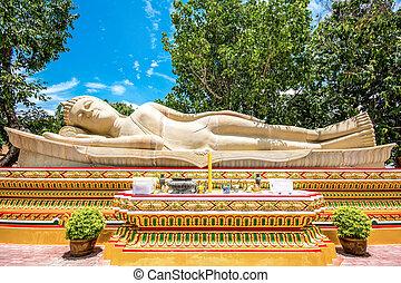 Sleeping buddha - Sandstone sleeping buddha