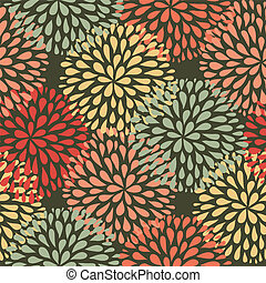 Vector seamless pattern. Modern floral texture. Stylish...