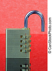 New Year Padlock 2015 - Open - Combination padlock with year...