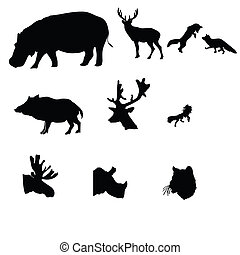 deer,fox,moose,wild boar,wolf,rhinoceros