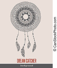 Dream Catcher, Boho, Ethnic, tribal background