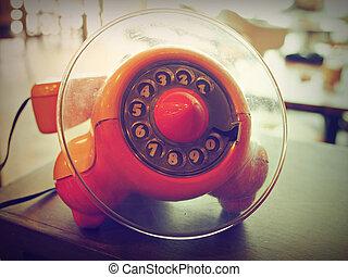 retro vintage telephone