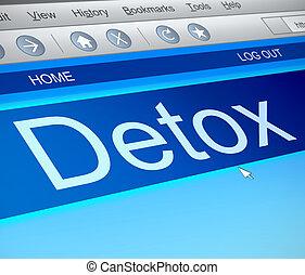 Detox concept. - Illustration depicting a computer screen...