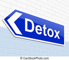 Detox concept. - Illustration depicting a sign with a detox...