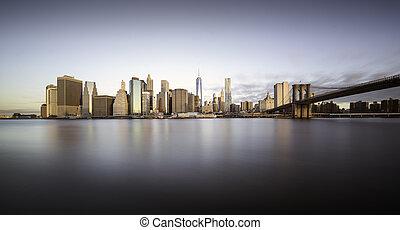 új, napkelte,  York,  Manhattan