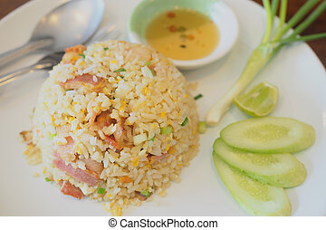 fried rice with bacon