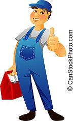 Plumber man - Vector illustration (eps 10) of Plumber man