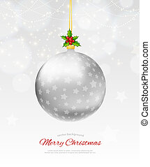 Christmas balls - Vector illustration (eps 10) of christmas...
