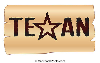 Texan - A beand with the text TEXAN with the lone star