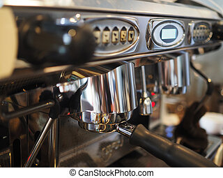 A professional espresso coffee maker