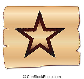 Texan Brand - A beand of the Texas star on a wood background