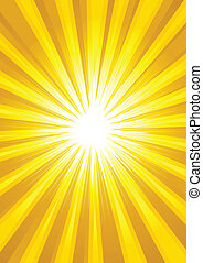 Light Burst - Illustration of yellow light burst as the...