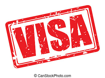 VISA red stamp text