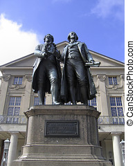 Two German poets in Weimar - Johann Wolfgang Goethe and...