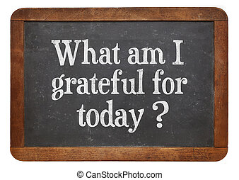 what am I grateful for today - what am I grateful for today...