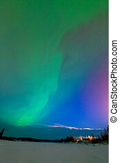 Northern lights - Intense northern lights - Aurora borealis...