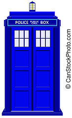 Police Telephone Box - An old fashioned police telephone box...