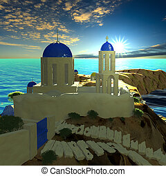 Greece - vacation background for adv or others purpose use
