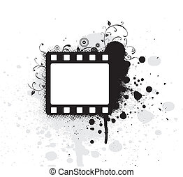 Editable vector grunge film frame , nice element for your...