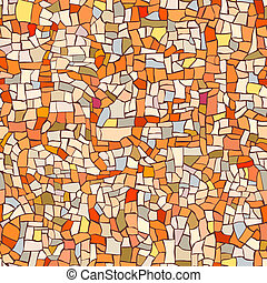 Pattern of marble orange mosaic. - Seamless vector pattern...