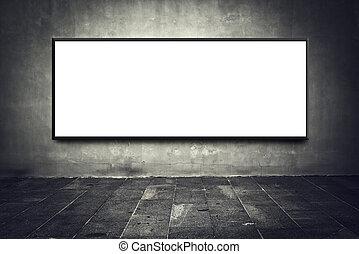 Blank billboard on street wall - Blank billboard as copy...