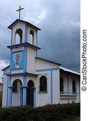 Rural Church - A small rural Catholic Church in San Pablo,...