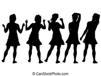 Young women - Beauty young girls on white background